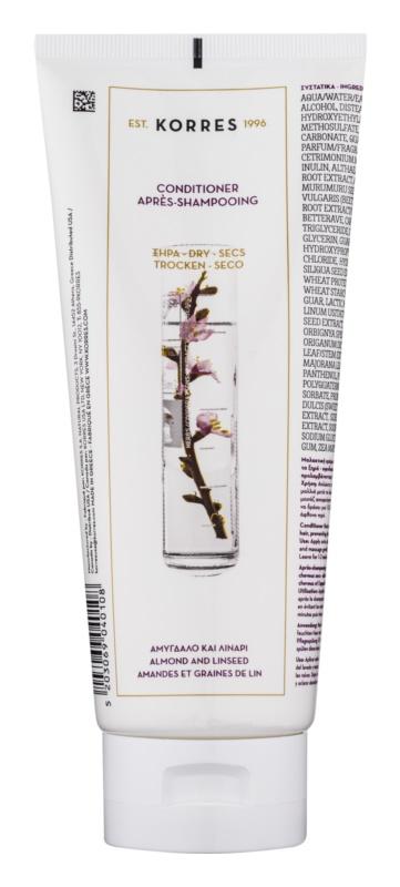 Korres Hair Almond and Linseed acondicionador para cabello seco y frágil