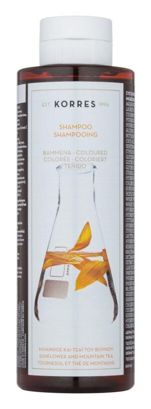 Korres Sunflower and Mountain Tea champô para cabelo pintado