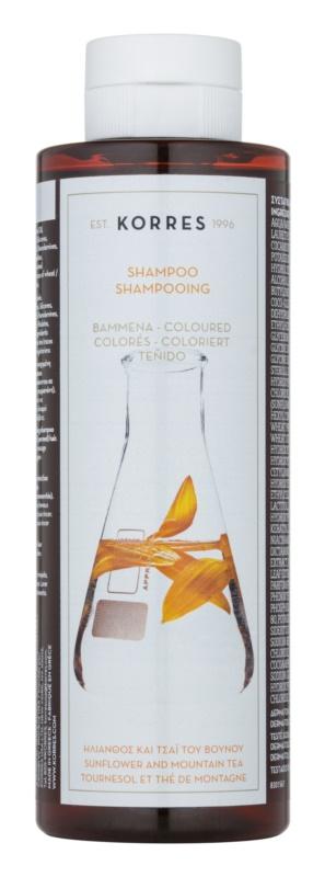Korres Sunflower and Mountain Tea champú para cabello teñido
