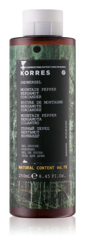Korres Mountain Pepper, Bergamot & Coriander gel za prhanje za moške 250 ml