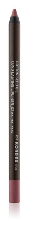Korres Cotton Seed Oil crayon contour lèvres