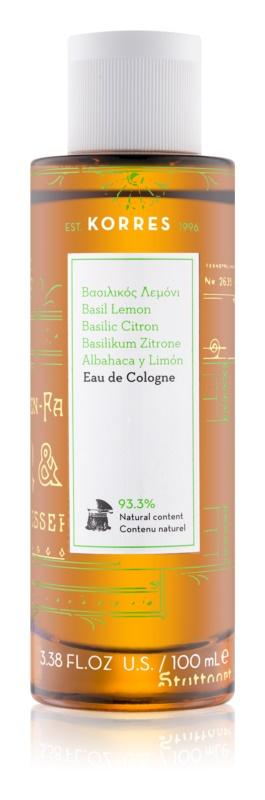 Korres Basil Lemon eau de cologne pour femme 100 ml