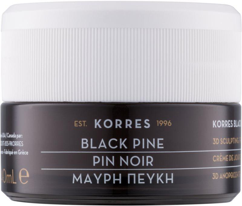 Korres Black Pine crème de jour liftante et raffermissante pour peaux normales à mixtes