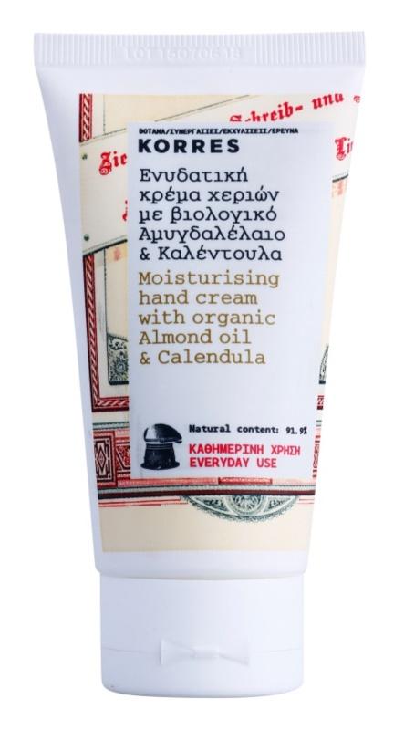 Korres Almond Oil & Calendula feuchtigkeitsspendende Creme für die Hände zur täglichen Anwendung