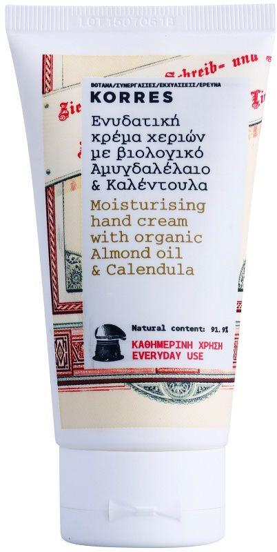 Korres Body Almond Oil & Calendula feuchtigkeitsspendende Creme für die Hände zur täglichen Anwendung