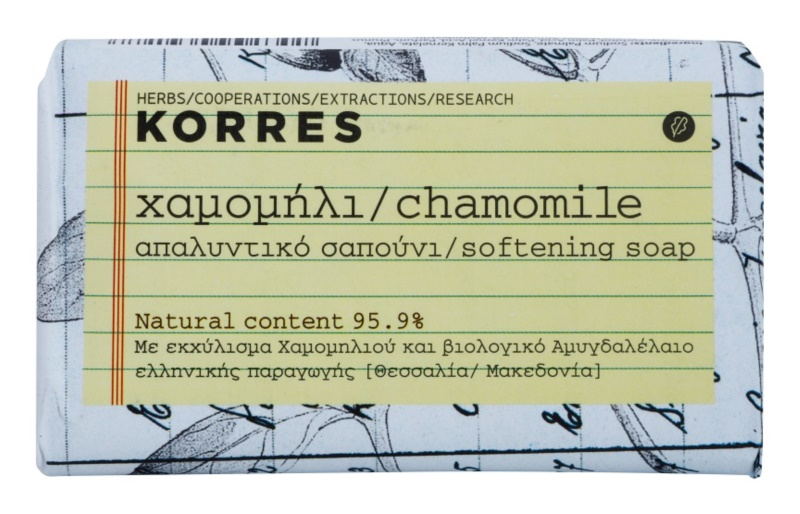 Korres Chamomile sabonete sólido para pele sensível