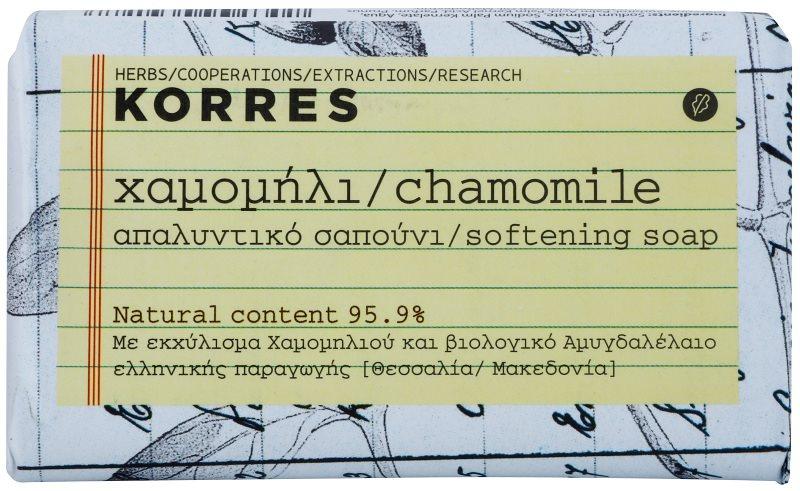 Korres Chamomile trdo milo za občutljivo kožo