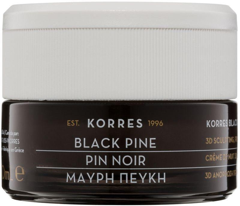 Korres Black Pine crème de nuit raffermissante effet lifting