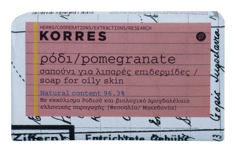 Korres Pomegranate jabón sólido para pieles grasas