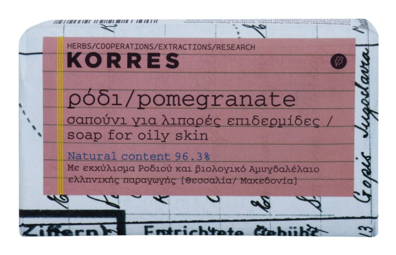 Korres Pomegranate sapun solid pentru ten gras