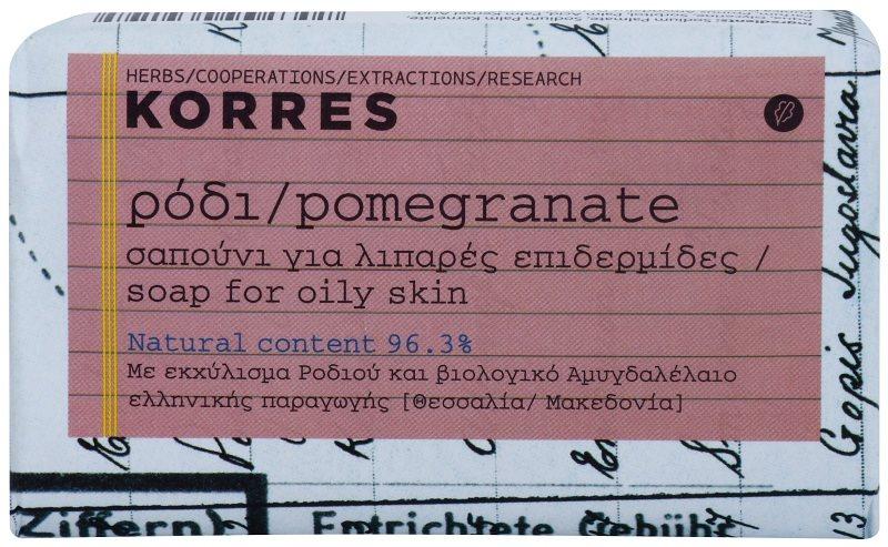 Korres Pomegranate tuhé mydlo pre mastnú pokožku