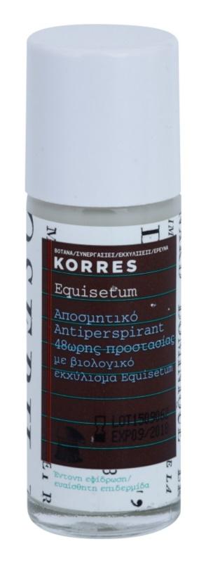 Korres Equisetum desodorizante roll-on 48 h