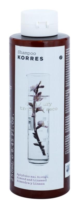 Korres Almond & Linseed szampon do włosów suchych i zniszczonych