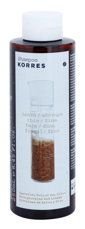 Korres Rice Proteins & Linden champú para cabello fino