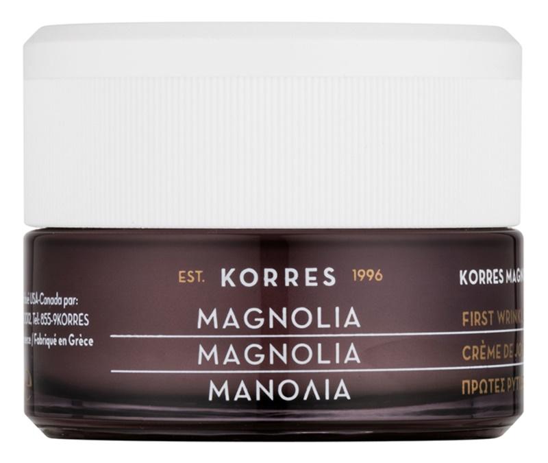 Korres Magnolia crème de jour anti-premières rides pour tous types de peau