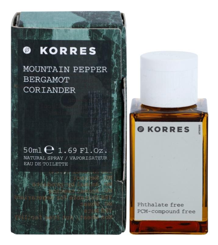 Korres Mountain Pepper (Bergamot/Coriander) eau de toilette para hombre 50 ml