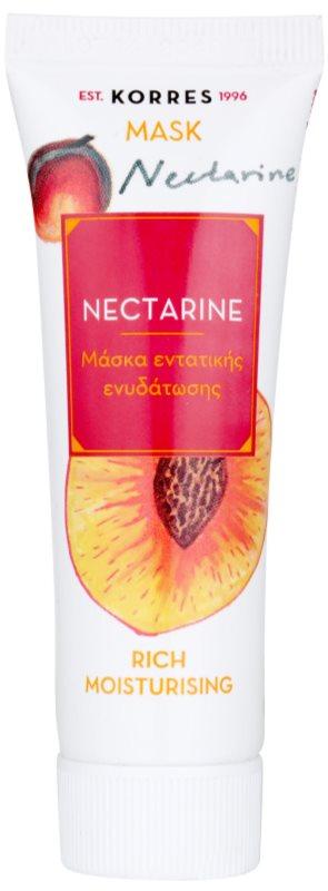 Korres Nectarine intensywna maska nawilżająca