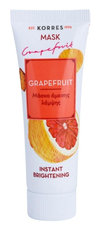 Korres Grapefruit mascarilla iluminadora con efecto instantáneo