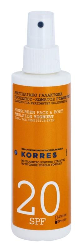 Korres Yoghurt  емульсія для засмаги SPF 20