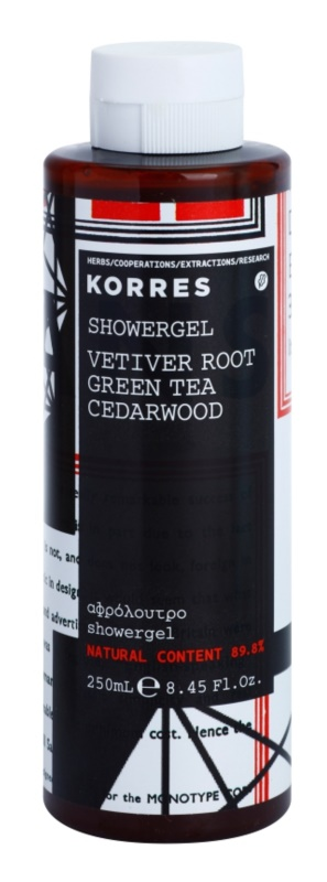 Korres Vetiver Root, Green Tea & Cedarwood Douchegel voor Mannen 250 ml