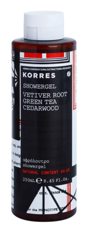 Korres Vetiver Root, Green Tea & Cedarwood Shower Gel for Men 250 ml