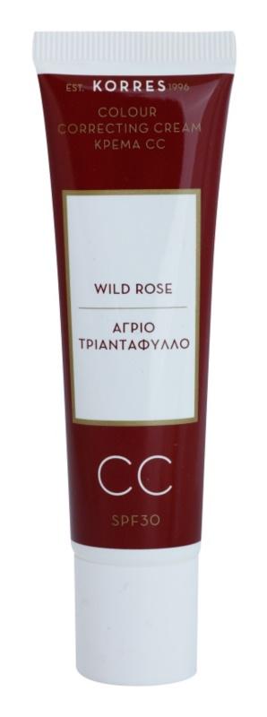 Korres Wild Rose rozświetlający krem CC SPF 30