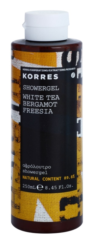 Korres White Tea, Bergamot & Freesia gel de ducha unisex 250 ml