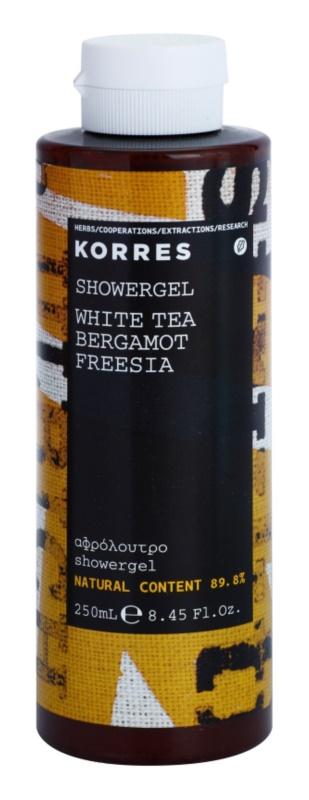 Korres White Tea, Bergamot & Freesia gel za prhanje uniseks 250 ml
