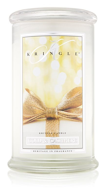 Kringle Candle Gold & Cashmere vonná svíčka 624 g