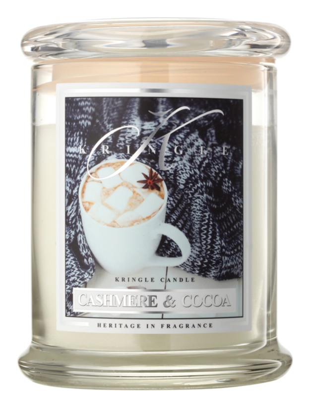 Kringle Candle Cashmere & Cocoa vonná sviečka 411 g