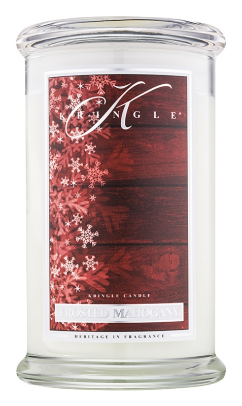 Kringle Candle Frosted Mahogany vonná svíčka 624 g