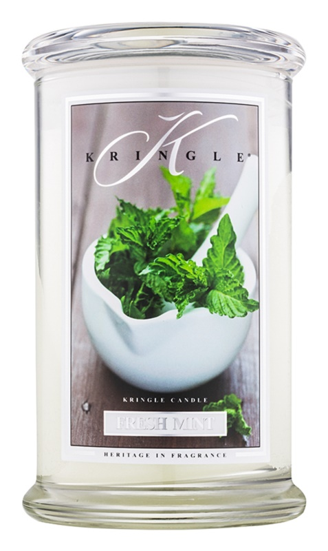 Kringle Candle Fresh Mint bougie parfumée 624 g