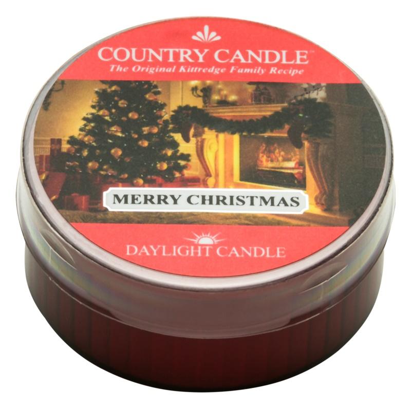 Kringle Candle Country Candle Merry Christmas čajová svíčka 42 g