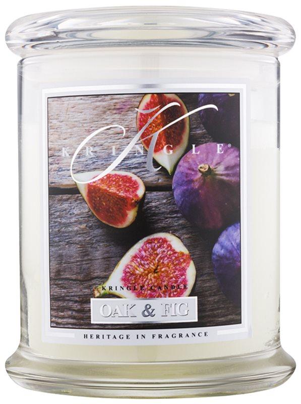 Kringle Candle Oak & Fig dišeča sveča  411 g