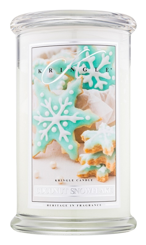 Kringle Candle Coconut Snowflake illatos gyertya  624 g