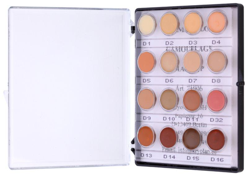 Kryolan Dermacolor Camouflage System міні-палетка кремових коректорів 16 кольорів