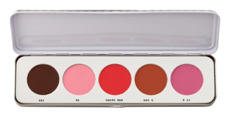 Kryolan Basic Face & Body paleta rdečil 5 barv