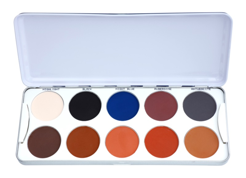 Kryolan Basic Eyes Eyeshadow Palette with 10 Shades