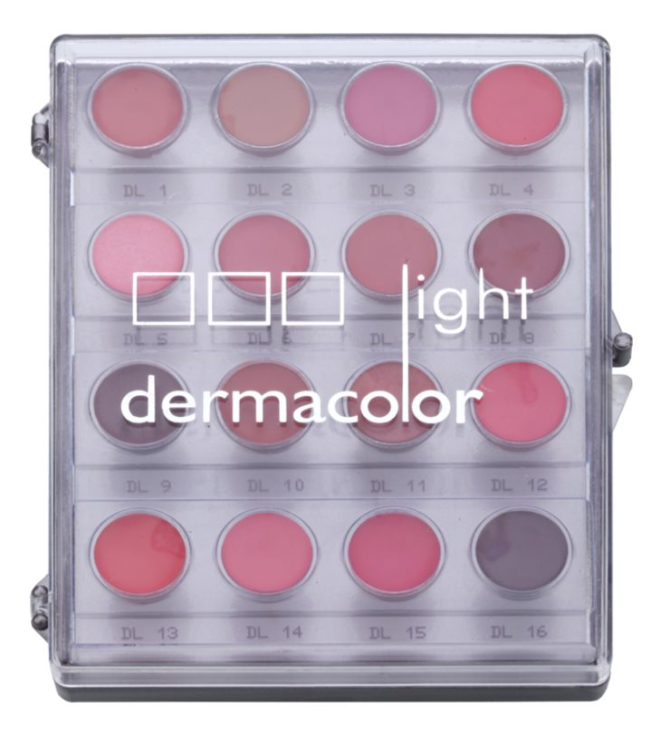 Kryolan Dermacolor Light Palette mit 16 Lippenfarben