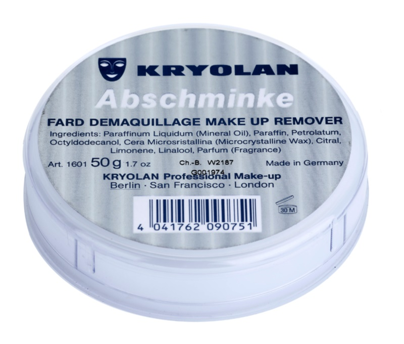 Kryolan Basic Removal Vaseline Makeup Remover for Persistent Makeup Small Pack