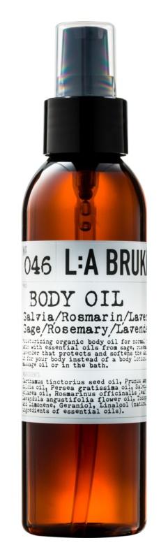 L:A Bruket Body tělový olej se šalvějí, rozmarýnem a levandulí