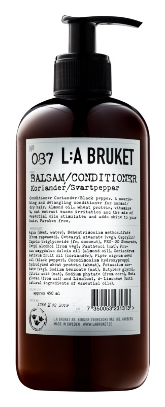 L:A Bruket Hair κοντίσιονερ για κανονικά εως ξηρά μαλλιά χωρίς paraben