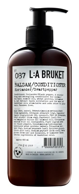 L:A Bruket Hair Conditioner für normales bis trockenes Haar ohne Parabene