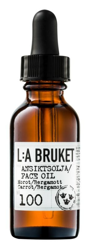 L:A Bruket Face pleťový olej s bergamotem a karotkou