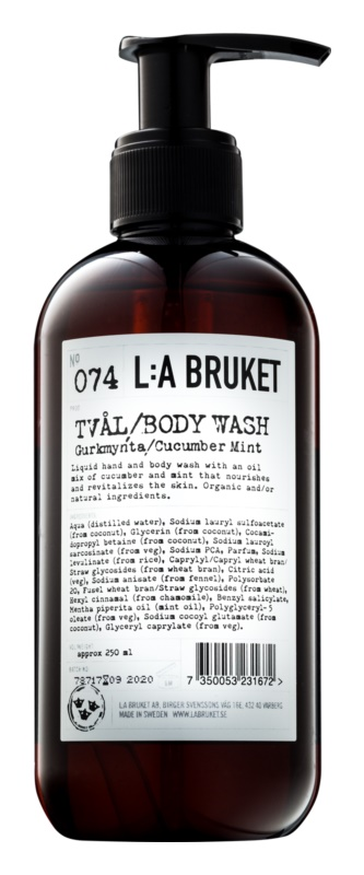 L:A Bruket Body Liquid Soap With Extracts Of Cucumber