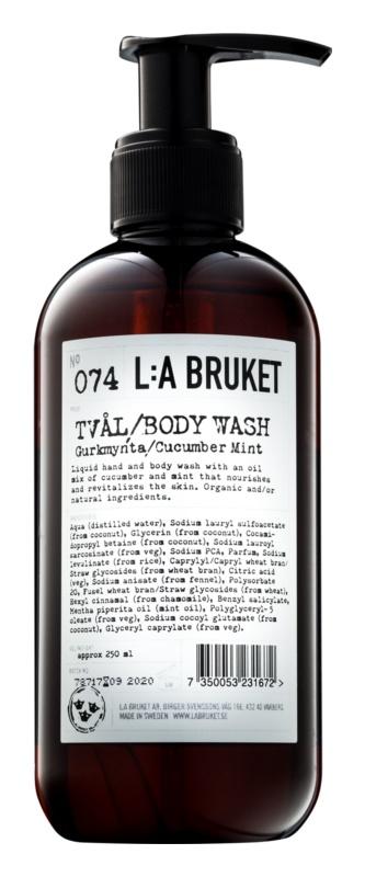 L:A Bruket Body tekuté mýdlo s výtažky z okurky