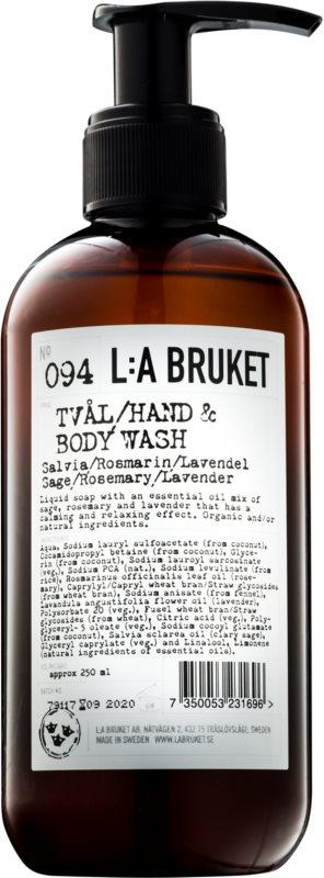 L:A Bruket Body tekući sapun sa žalfijom, ružmarinom i lavandom  za ruke i tijelo