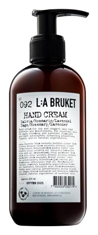 L:A Bruket Body crema de maini cu salvie, rozmarin si lavanda