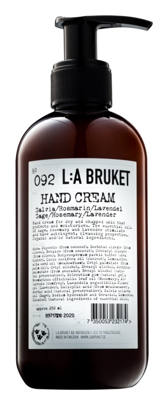 L:A Bruket Body крем для рук з шавлією, розмаринем та лавандою