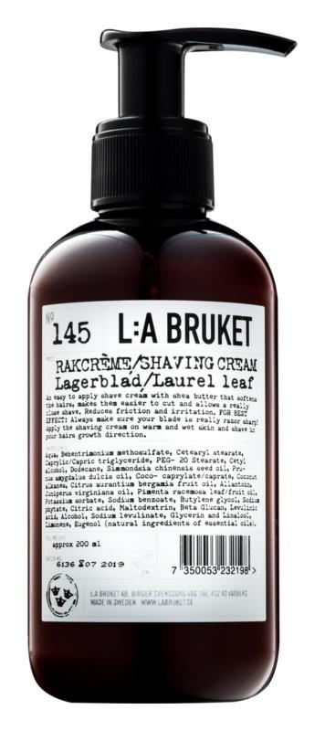L:A Bruket Shave Shaving Cream with Laurel Leaf